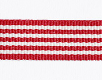 Striped Petersham Ribbon – 10 meters – Red/White 15mm