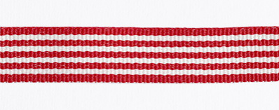 Striped Petersham Ribbon – 10 meters – Red/White 15mm