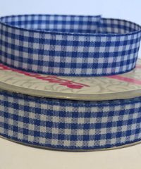 Checkered Ribbon 15 mm  – 10 meters Blue and White