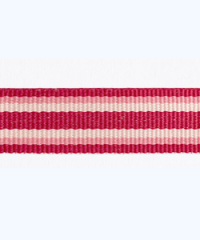 Petersham 10 meters – Woven Stripes – Cranberry/Eland/Rose 15mm