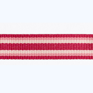 Petersham 10 meters – Woven Stripes – Cranberry/Eland/Rose 15mm