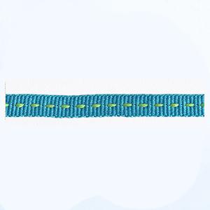 Petersham 10 meters Saddle Stitch – Cyan/Lime – 6mm