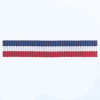 Petersham woven stripes 10 meters – Royal Blue / White / Red – 10mm