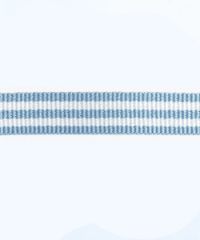 Petersham woven stripes 10 meters – Sky Blue / White – 10mm