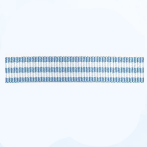 Petersham woven stripes 10 meters – Sky Blue / White – 10mm