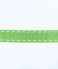 Petersham Stitches 10 meters –  Lime / White 10mm