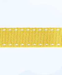 Petersham Stitches 10 meters –  Yellow / White 15mm