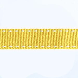 Petersham Stitches 10 meters –  Yellow / White 15mm
