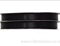 Black Sparkle Satin Ribbon – 30 meters