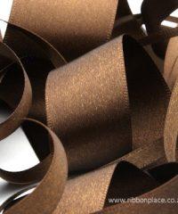 Brown Sparkle Satin Ribbon – 30 meters