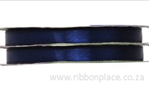 Navy Sparkle Satin Ribbon – 30 meters