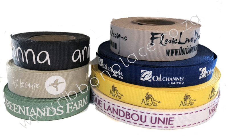 custom branded ribbon petersham