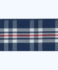 Tartan Patterned Ribbon (Blue & Black) – 10 meters