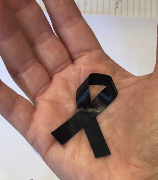 Covid-19 Loss of Life Black Mourning Awareness Ribbon